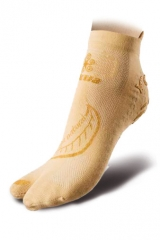 Yoga-Socks ecru/gold