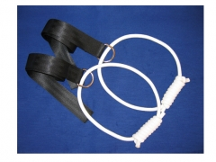 pair strap with handle, extension for pelvic swing