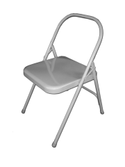JivanaProps yoga chair silver - with double hinge-